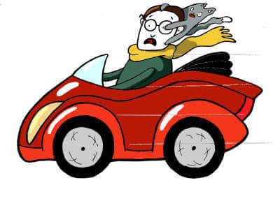 Fred fährt Auto