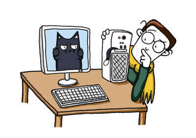 Fred hat Ärger mit seinem Computer