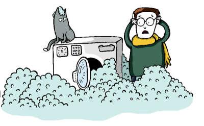 Freds Waschmaschine ist ausgelaufen
